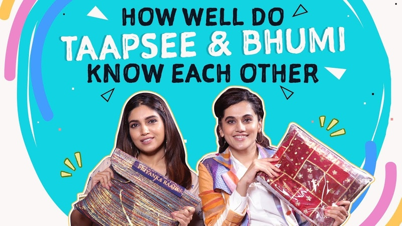 Taapsee Pannu Bhumi Pednekar's HILARIOUS 'How Well Do You Know Each Other' Quiz Saand Ki Aankh