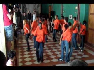 "Salsa, Rueda de casino demonstration ""Casa de la Trova"" Santiago de Cuba."