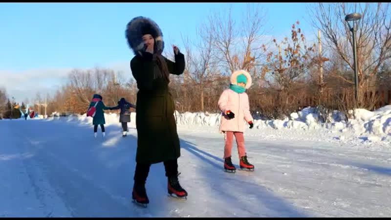 Астана Жерұйық саябағы 2019 қыс айы