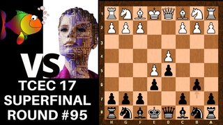 One side plays moves.. The other big Strategic Trump Cards || Stockfish vs Leela || TCEC 17 Rd 95