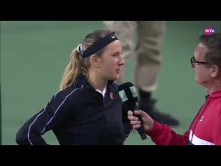 Vika's on-court interview after r1 win over lapko