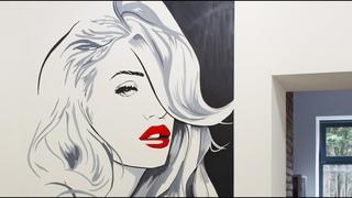Girl Portrait Commercial Mural