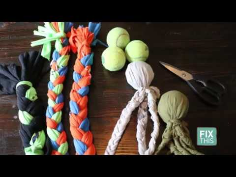 DIY Dog Toys - EASY Use old t-shirts