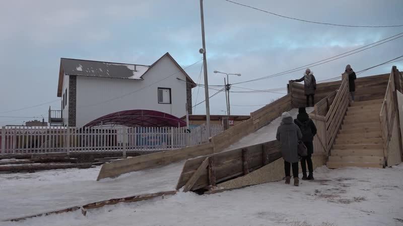 Зарисовка Ледовый городок город ярмарка дед мороз и дети