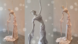 #doycrafts BEST OUT OF WASTE MATERIALS|| HOW TO MAKE LADY SCULPTURE: