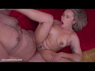Red August - Couchsurfing Sex [hardcore, blowjob, facial cumshot, tattoo, chubby, natural tits]