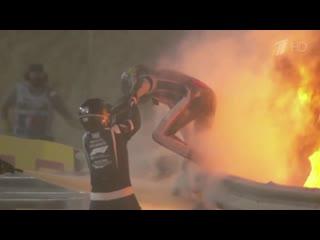 На Гран-при Формулы-1 в Бахрейне произошли две серьезные аварии