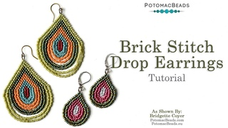 LIVE Class - Brick Stitch Drop Earrings