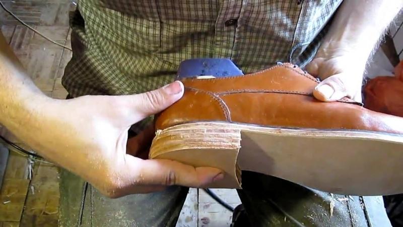 Егор Букраев Д 26. Подгоняем каблук. Классические туфли своими руками.