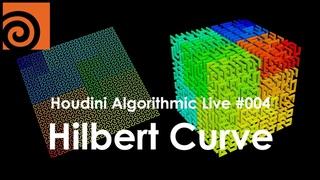 Houdini Algorithmic Live #004 - Hilbert Curve