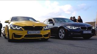 Как обогнать СПОРТКАРЫ? BMW 340 vs Taycan, Mercedes GT, Audi RS3, BMW M4, Tesla P100D, Camaro SS