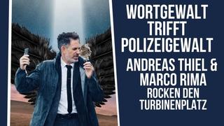 Andreas Thiel & Marco Rima rocken den Turbinenplatz: Wortgewalt trifft Polizeigewalt an der Demo ZH