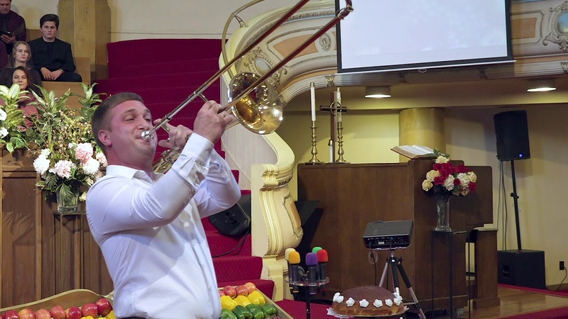 Александр Бирюк тромбон Я песнь пою тебе Иерусалим