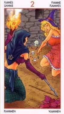Таро Юных Ведьм. Младшие Арканы. Факелы GAmi2TMNsO8