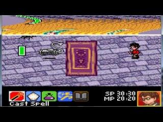 Гарри Поттер и Тайная комната (Game Boy Color) Часть 1 - Начало игры; Прохождение  Норы Уизли.