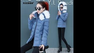 Needbo/зимняя куртка для женщин; парка с меховым воротником; повседневные теплые женские зимние пальто; пуховик; стеганая