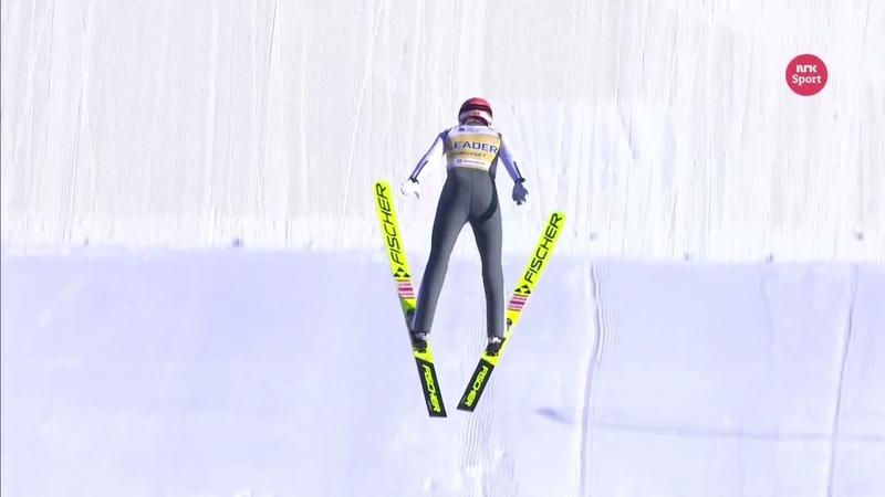 Very long jump of Marita Kramer 146 5m Chaikovsky