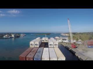 vanquish arrival in french harbour roatan isles, honduras-