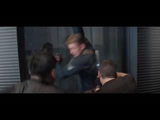 «Первый Мститель» драка в лифте