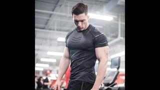 Мужская футболка для тренажерных залов, компрессионная футболка для бодибилдинга, летняя повседневная футболка для тренировок,