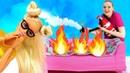 Диско вечеринка Марго и пожар в доме. Куклы Барби и их жизнь - видео для девочек про кукол