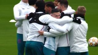 Man City Players Train Ahead Of Club Brugge Champions League Clash