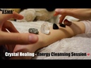 ASMR CRYSTAL HEALING ENERGY CLEANSING SESSION (SUPER RELAXING, HAND MOVEMENTS WHISPER) !! (-__-)