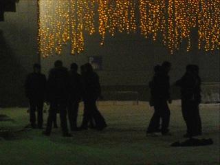 (драка) три казаха, против 7 русских, возле торгового центра меги.