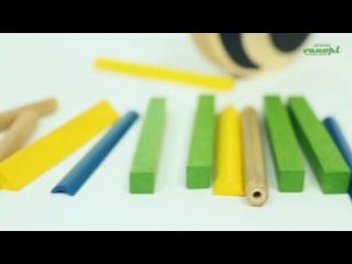 Деревянная игрушка головоломка балансир из бамбука Pandabo