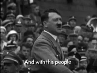 Выступление Адольфа Гитлера. Запись одной из самых проницательных речей