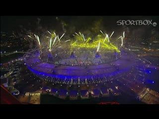 мегафейерверк на царемонии закрытия 16 х олимпийских игр