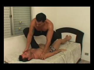 BOY STEP BOY SQUEEZING SLAVE Mfx Brazilfeet gay feet trampling domination