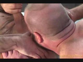 Fat gay bears fucking in hot threesome