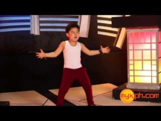 Little PSY (Hwang Min-Woo) Dances the Gangnam Style on MYX Philippines