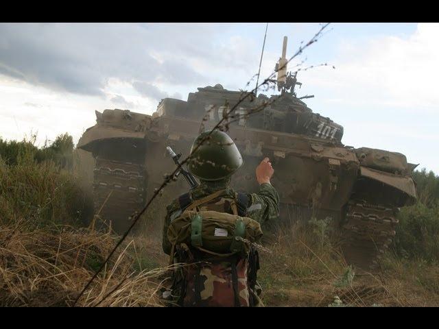Обкатка танками курсантов