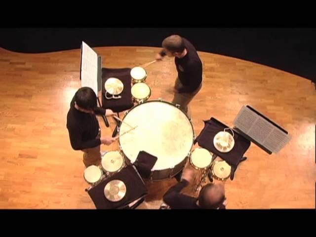 The DePauw Percussion Ensemble - Trio per Uno by Nebojša Jovan Živkovic