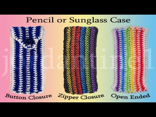 Пенал  из резинок New Pencil / Glasses / Sunglasses Pouch  Case - Rainbow Loom - Hook Only - Rubber Band Crochet