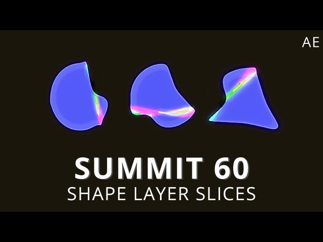 Summit 60 Shape Layer Slices After Effects