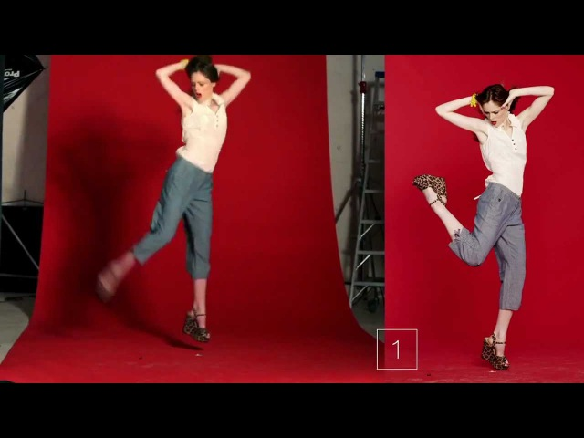 Model Coco Rocha with 19 Jumping Poses