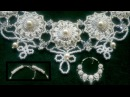 Beading4perfectionists : Wedding / Prom Queen necklace brick stitch around pearl beading tutorial