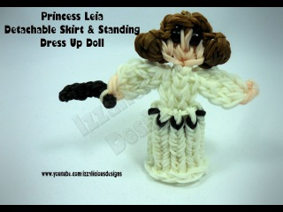 Rainbow Loom Princess Leia Charm Action Figure - Detachable Skirt & Standing Doll - Gomitas
