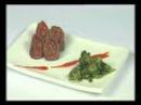 ABC Gourmet. Bajas Calorías - Lomo arrollado con brócolis y coulis de morrón
