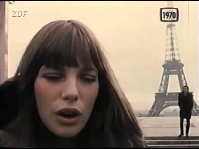 Serge Gainsbourg et Jane Birkin Je t aime moi non plus 1970 Eiffelturm