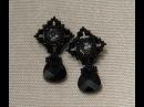 Sidonia's handmade jewelry Beaded Stud Earrings tutorial