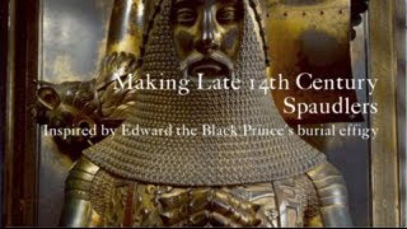 Making Late 14th Century Spaulders Spaudlers