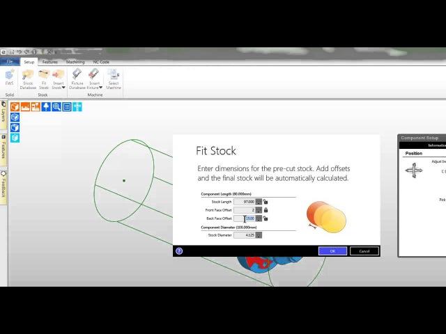 3 Edgecam TestDrive tutorial Create stock turning