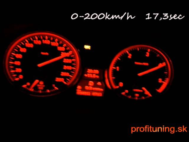BMW E90 335d acceleration 0 300km h powerded by PROFITUNING 350HP 700Nm