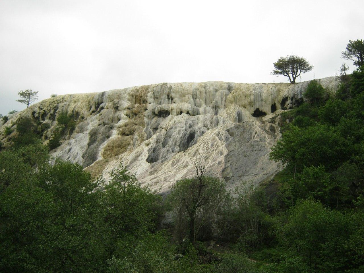 травертиновые террасы Аккая близ Болу
