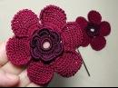 УРОКИ ВЯЗАНИЯ. Цветок вязаный крючком с лепестком из витого столбика. crochet flower.