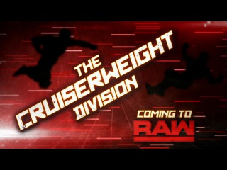 #My1 The Cruiserweight division is coming to Monday nights: Raw, July 25, 2016